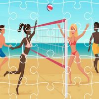 Beach Volley Ball Jigsaw