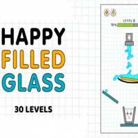 Happy Filled Glass: online Online
