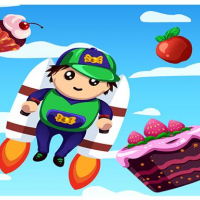Jetpack Kid - One Touch Game Online