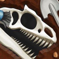 Dinosaur bone digging Game